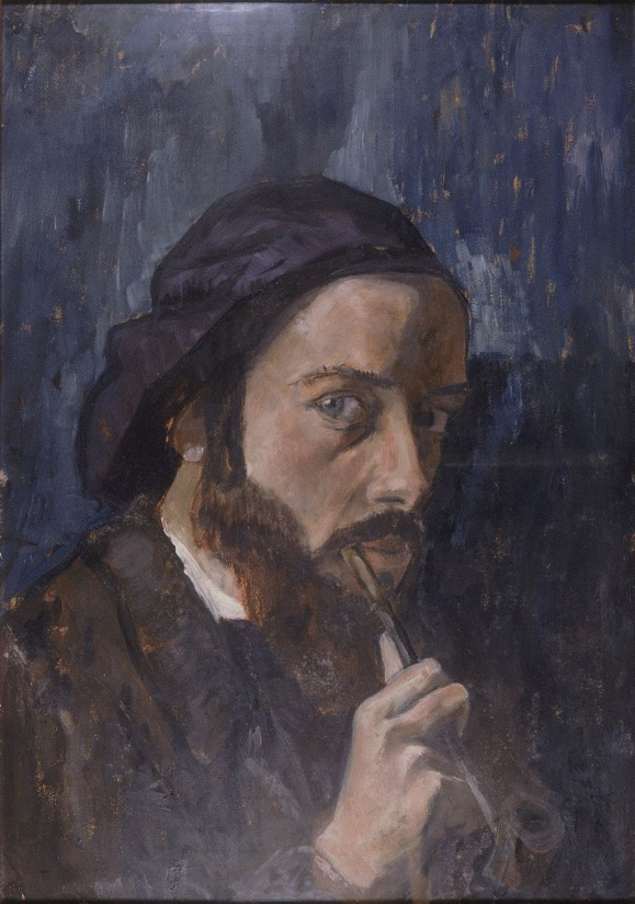 sef-portrait oïl on cardboard 1909