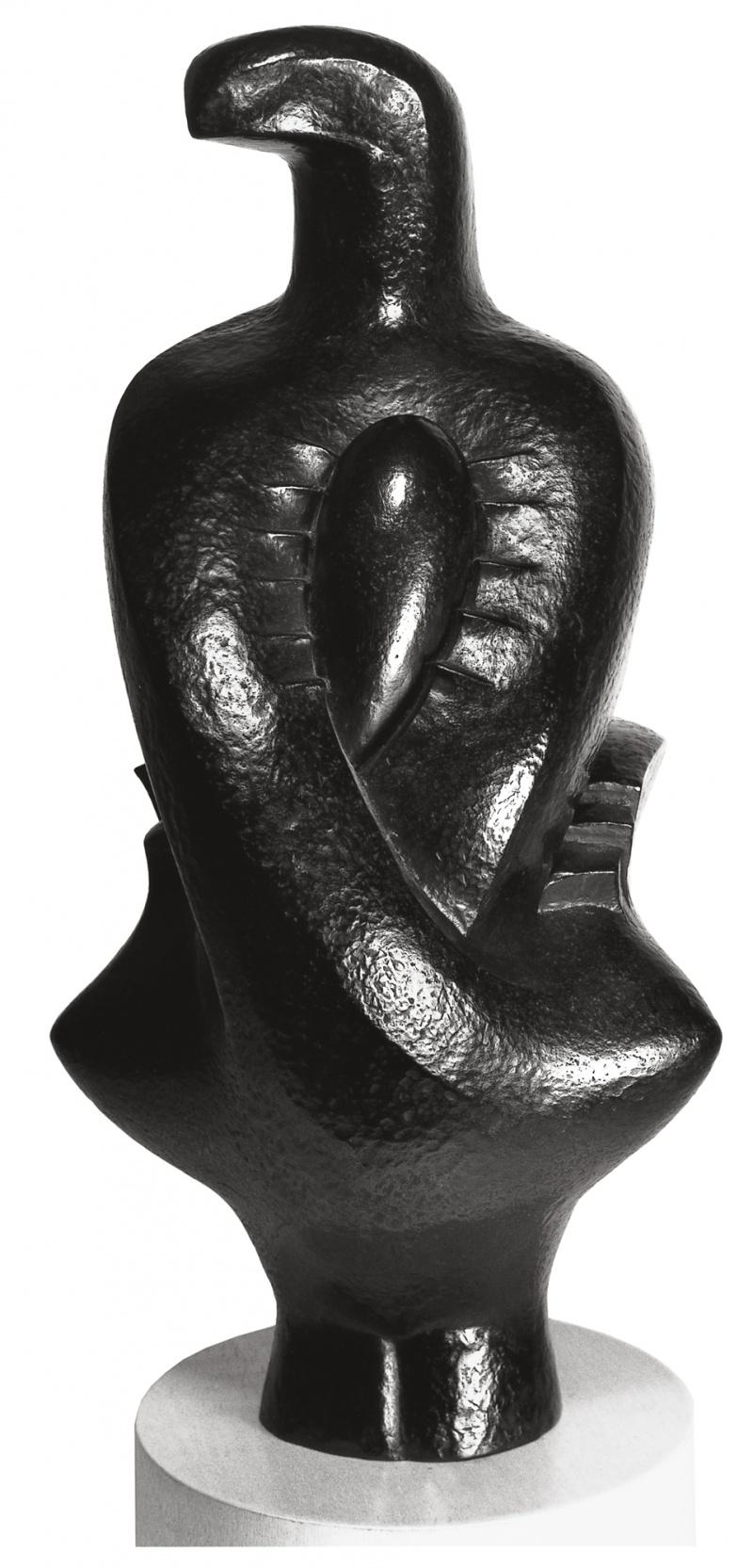 Jean Chauvin - Sculpteur - Magicienne - bronze - 1944