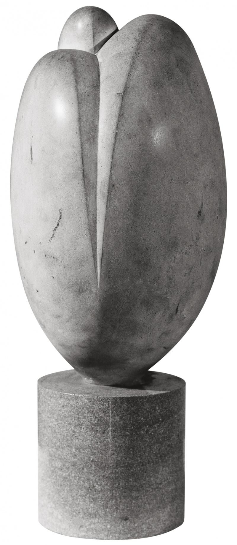 Jean Chauvin - Sculpteur - Amants - pierre - 1946