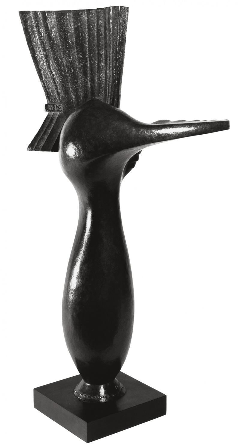 Jean Chauvin - Sculpteur - Sein à l'éventail - bronze - 1958